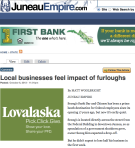 Local businesses feel impact of furloughs