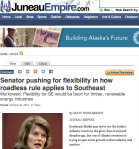 Senator pushing for flexibility in how roadless rule applies to Southeast